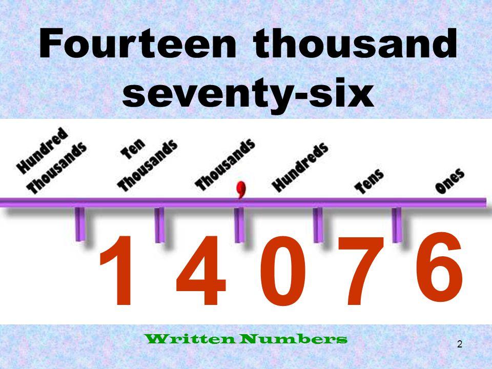 Written Numbers.